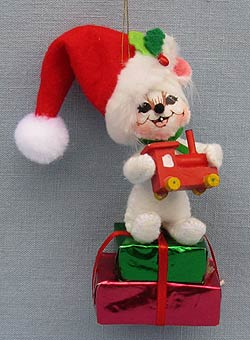 annalee 3 christmas morning mouse with train ornament 2016 mint 700516 - Annalee Christmas Decorations