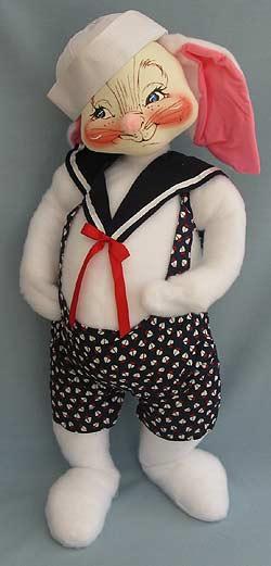 """Annalee 30"""" Sailor Bunny - Near Mint - 0082300oxa"""