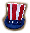 "Annalee 3"" Patriotic Uncle Sam Hat Ornament / Pin - Mint - 981003"