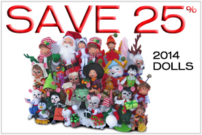 25% off 2014 Annalee Dolls