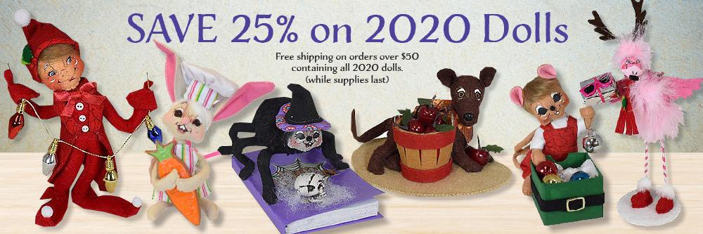 25% off 2020 Annlee Dolls