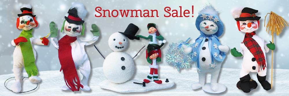 Sue Coffee Annalee Snowman Sale