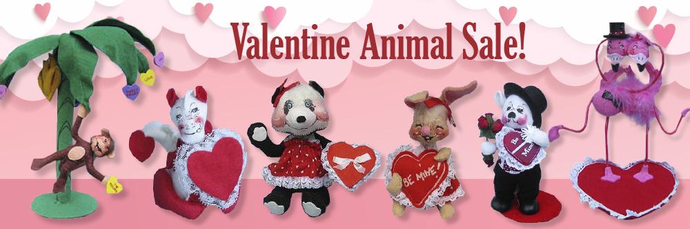 Annalee Valentine Animal Sale