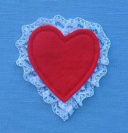 "Annalee 3"" Heart Pin - Mint - 030085"