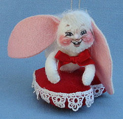"Annalee 3"" Love Bunny Ornament - Excellent - 030802a"