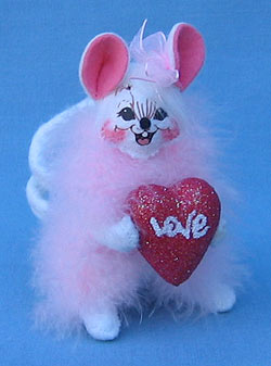 "Annalee 4"" Fluffy Love Valentine Mouse - Mint - 031106"