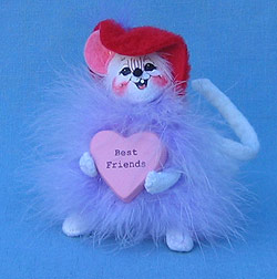 "Annalee 4"" Best Friends Red Hot Valentine Mouse - Mint - 031206"