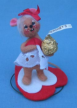"""Annalee 3"""" Hershey Girl Mouse - Mint - 033397"""