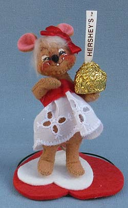 """Annalee 3"""" Hershey Girl Mouse - Mint - 033397sqxt"""