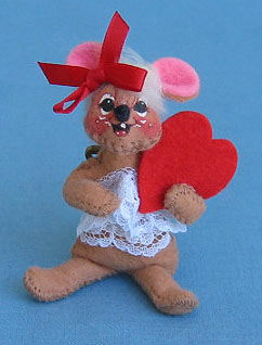 "Annalee 3"" Sweetheart Girl Mouse Pin - Mint - 033795"