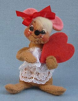 """Annalee 3"""" Sweetheart Girl Mouse Pin - Mint - 033795ox"""