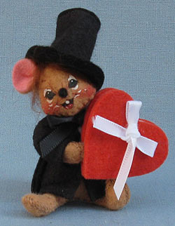 """Annalee 3"""" Sweetheart Boy Mouse Pin - Mint - 033895"""