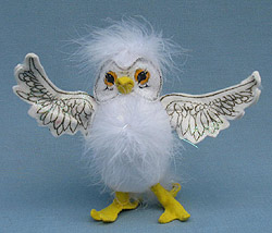 "Annalee 5"" White Owl - Mint - Prototype - 043305"