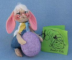 "Annalee 5"" Floppy Ear Boy Bunny with Egg - Mint - 051084ox"