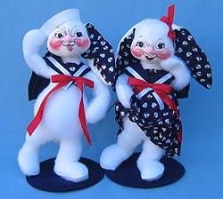 "Annalee 12"" Sailor Boy & Girl Bunnies - Mint - 0674-0673-00"