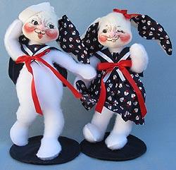 "Annalee 12"" Sailor Boy & Girl Bunnies - Mint - 0674-0673-00w"