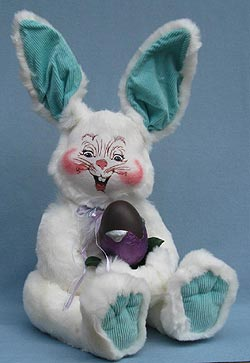 "Annalee 18"" Furry Bunny with Chocolate Egg Tulip- Mint - 070304"