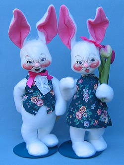 "Annalee 18"" Sunday Best Boy & Girl Bunny - Mint - 0715-0710-00"