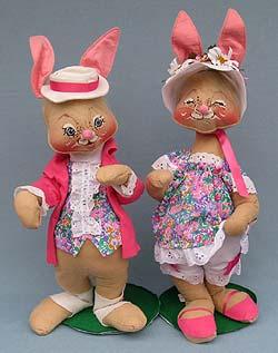 "Annalee 18"" E.P. Boy & Girl Bunny - Mint  - 0715-0710-85ox"