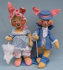 "Annalee 18"" E.P. Boy & Girl Bunny - Mint - 0715-0710-88"