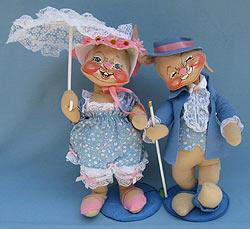"""Annalee 18"""" E.P. Boy & Girl Bunny - Excellent - 0715-0710-88-1"""