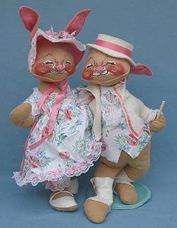 "Annalee 18"" E.P. Boy & Girl Bunny - Near Mint - 0715-0710-89a"