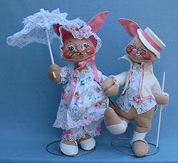"Annalee 18"" E.P. Boy & Girl Bunny - Mint - 0715-0710-89b"
