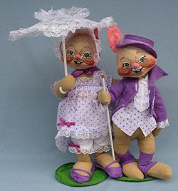 "Annalee 18"" E.P. Boy & Girl Bunny - Mint - 0715-0710-90"
