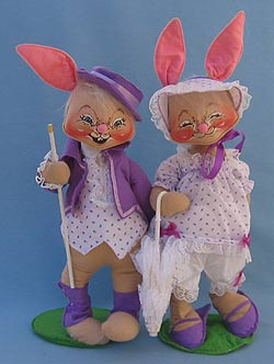 "Annalee 18"" E.P. Boy & Girl Bunny - Mint - 0715-0710-90x"