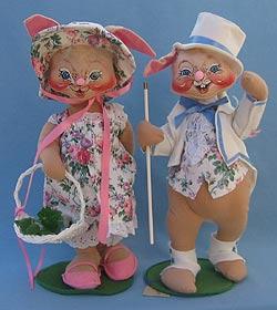"""Annalee 18"""" E.P. Boy & Girl Bunny - Excellent - 0715-0710-93"""