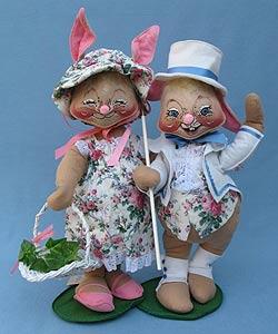"Annalee 18"" E.P. Boy & Girl Bunny - Mint - 0715-0710-93x"