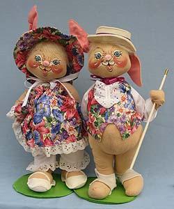 """Annalee 18"""" E.P. Boy & Girl Bunny - Excellent - 0715-0710-95a"""