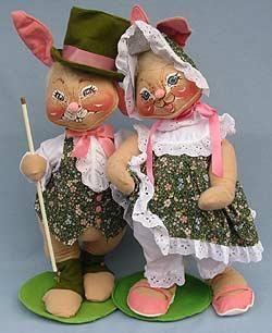 "Annalee 18"" E.P. Boy & Girl Bunny - Mint - 0715-0710-98-1"