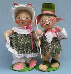 "Annalee 18"" E.P. Boy & Girl Bunny - Mint - 0715-0710-98"