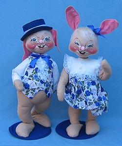 "Annalee 18"" E.P. Boy & Girl Bunny - Mint - 0715-0710-99"