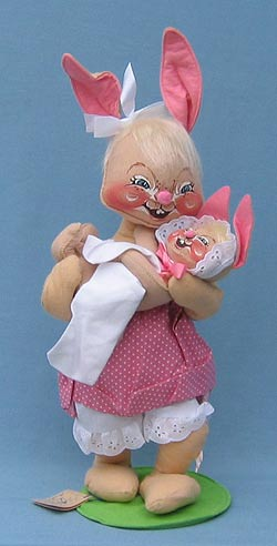 """Annalee 18"""" Mother Bunny with 10"""" Baby Bunny - Mint - 073889"""