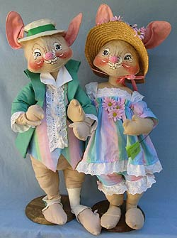 "Annalee 30"" E.P. Boy & Girl Bunny - Mint / Near Mint - 0815-0810-86oxt"