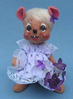 """Annalee 7"""" Violet Mouse - Mint - 083199"""