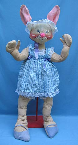 "Annalee 48"" Easter Parade Girl Bunny - Very Good - 090583"