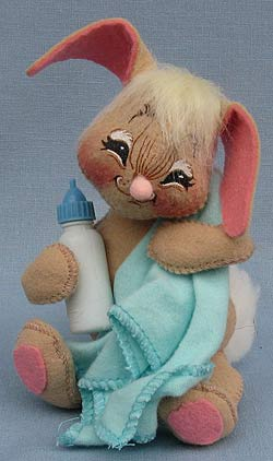 """Annalee 7"""" Baby Bunny with Bottle - Mint - 093094sq"""