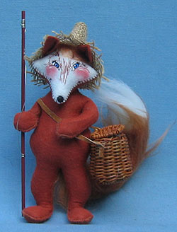 """Annalee 8"""" Country Fishing Fox - Mint - 095001"""