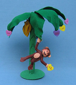 """Annalee 12"""" Bananas For You Monkey in Palm Tree - Mint - 100009"""