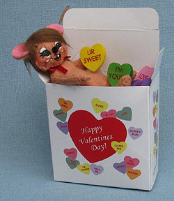 "Annalee 3"" Sweethearts Candy Mouse 2013 - Mint - 100113"