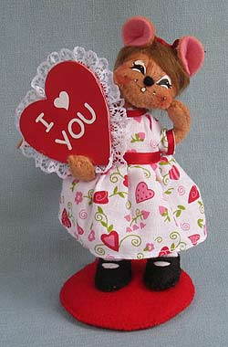 """Annalee 5"""" I Love You Girl Mouse 2013 - Mint - 100313"""