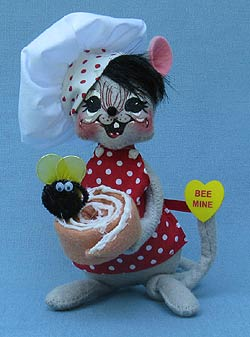 "Annalee 6"" Bee My Honeybun Chef Mouse - Mint - 100511"