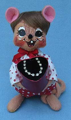 "Annalee 6"" Sweetheart Boy Mouse - Mint - 100611"