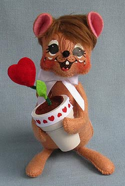 "Annalee 6"" Love Grows Mouse 2013 - Mint - 100613"