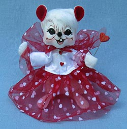 """Annalee 6"""" Valentine Fairy Mouse - Mint - 100811"""