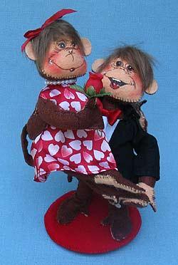 """Annalee 6"""" Monkeying Around Valentine - Wedding Couple - Mint - 100911"""