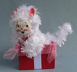 "Annalee 8"" Gift Box Kitty Cat 2013 - Mint - 101013"